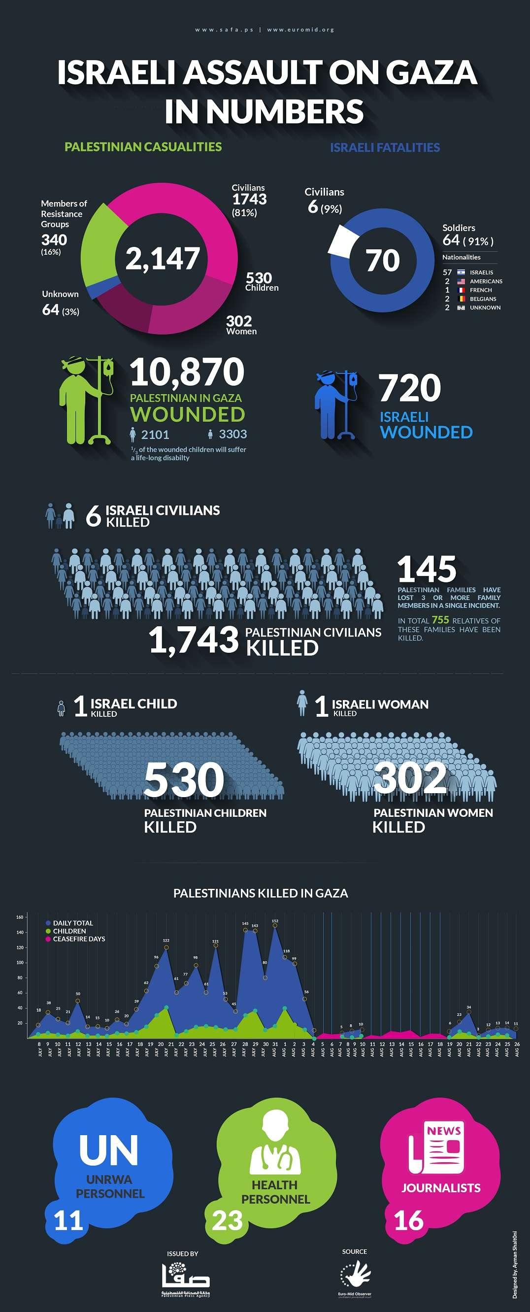 Israeli Assault on Gaza in Numbers