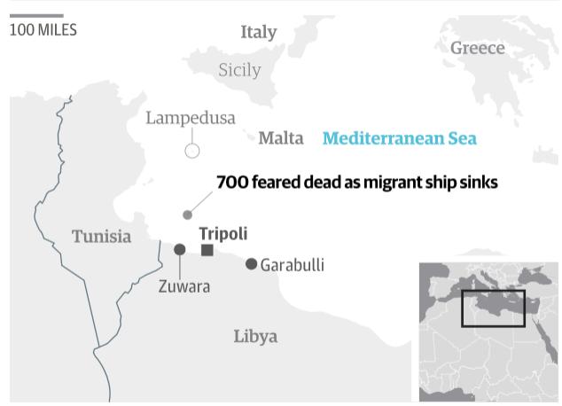 700 migrants feared dead in Mediterranean shipwreck off Libya