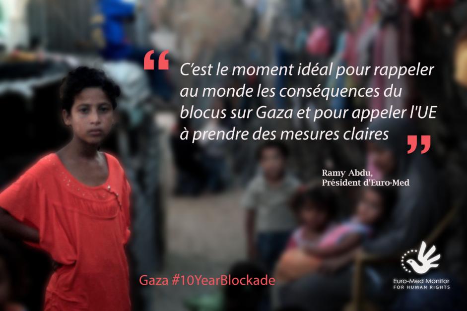 Une pétition pour mettre fin au blocus de Gaza