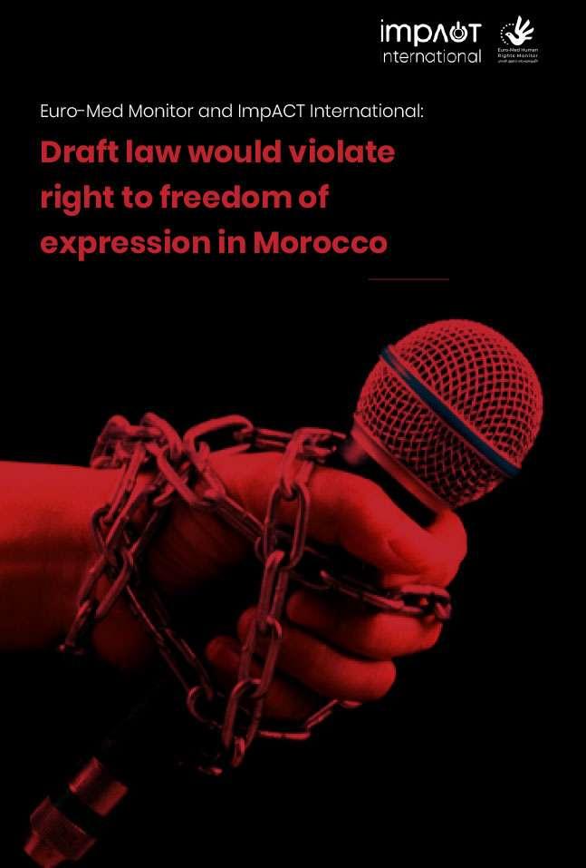 Rapport conjoint : Le projet de loi marocain ferait taire les voix dissidentes