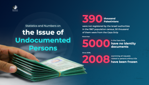 Statistics on the issue of undocumented persons in the Gaza Strip