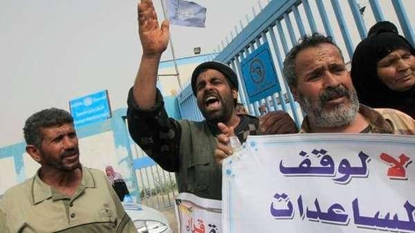 """استنكار إغلاق """"الأونروا"""" لمراكز الإغاثة بقطاع غزة"""