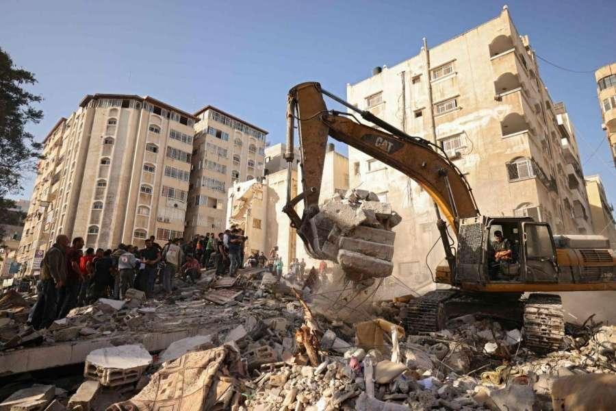 Bande de Gaza: Destruction massive d'un quartier résidentiel et récupération de 33 morts sous les décombres