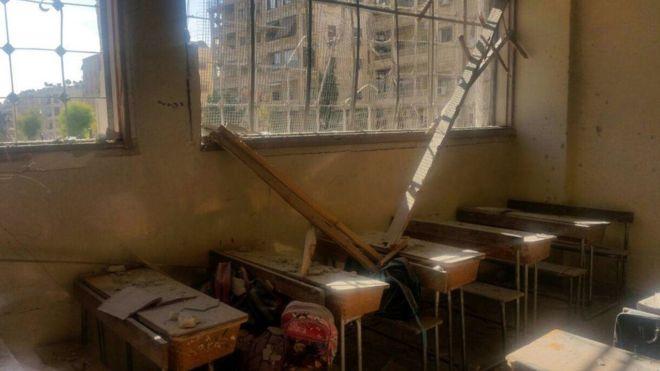 Syria war: Aleppo rebel attack on school kills seven children
