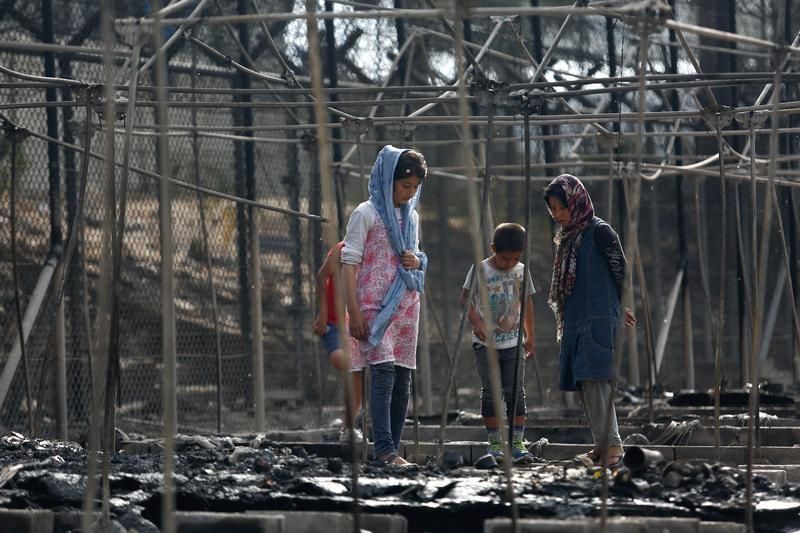 Greece Refugee Camp Destroyed By Fire