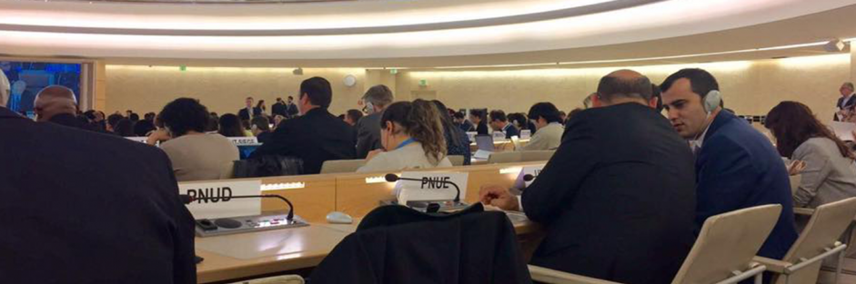 Euro-Med Monitor team in Geneva attends a Human Rights Council session