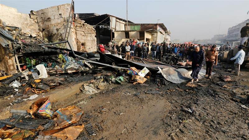 ISIL suicide car bomber kills a dozen in Baghdad