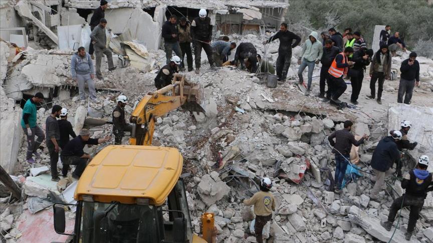 مقتل 9 مدنيين في قصف للنظام السوري على إدلب وحمص