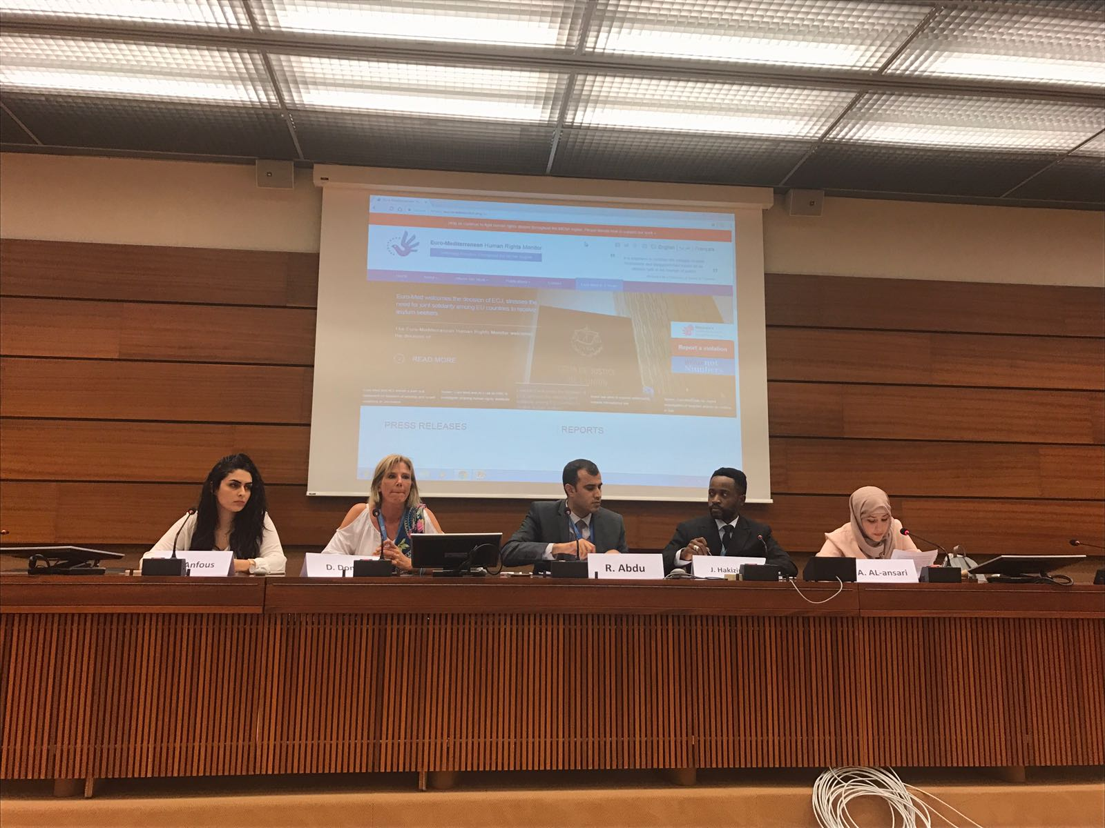 During an HRC side event, Euro-Med: The Arab region is witnessing huge restrictions on freedom of religion and belief