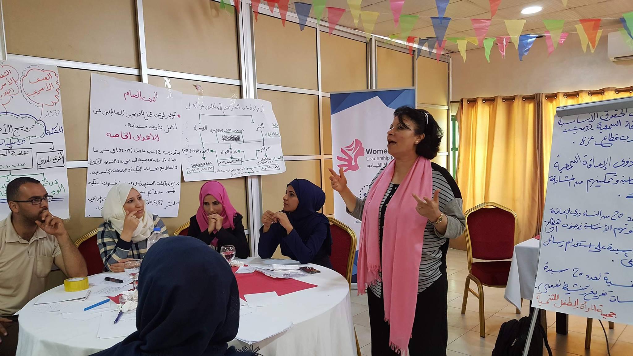 مواصلة لقاءات مشروع حاضنة المرأة القيادية- قطاع غزة 2017
