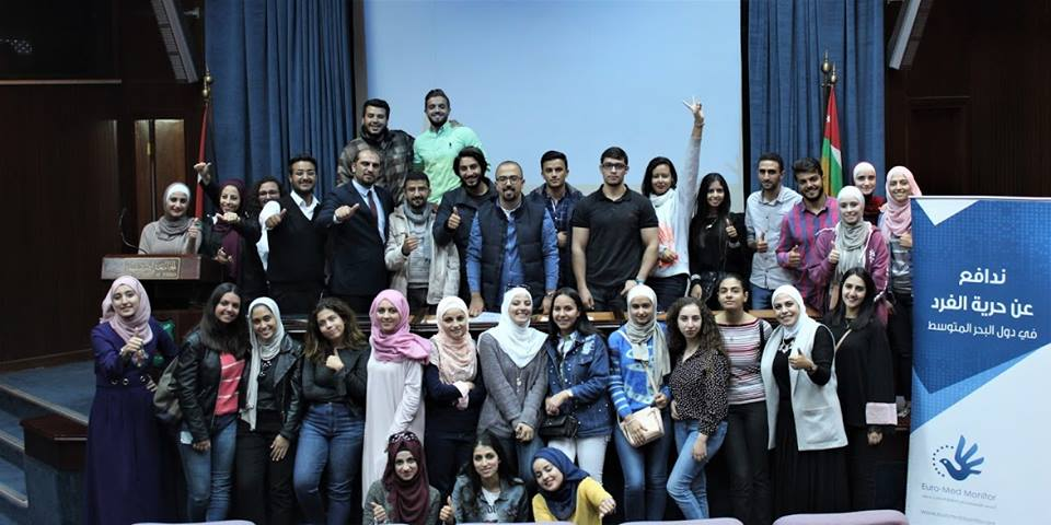 "Jordan: Euro-Med holds a training session on ""mock trials"" at UoJ"