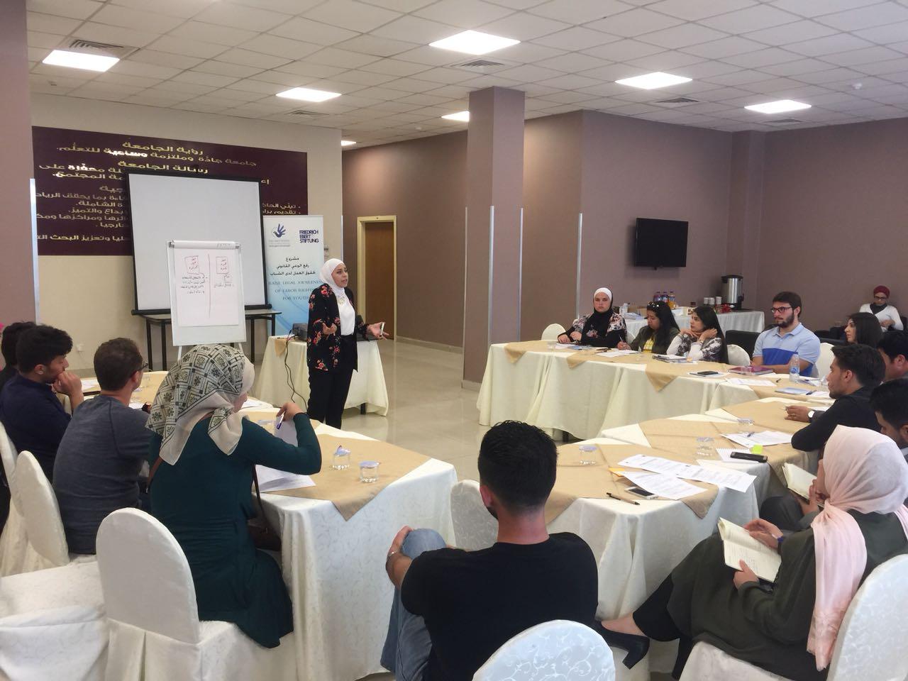 الأردن: الأورومتوسطي يعقد أولى تدريبات مشروع رفع الوعي القانوني بحقوق العمل للشباب