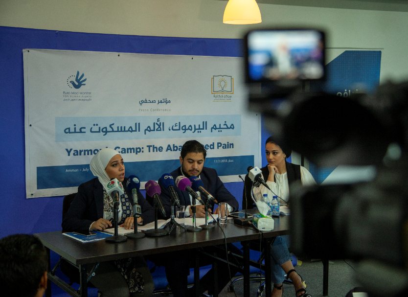 At a press conference: Euro-Med Monitor presents findings of investigation into violations in Yarmouk Camp