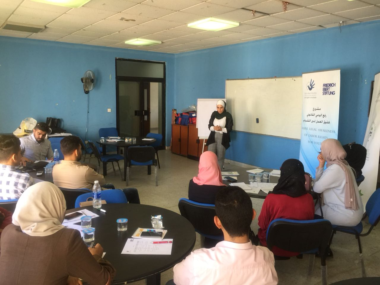 Jordan: In partnership with Friedrich Ebert, Euro-Med organizes training on labor rights