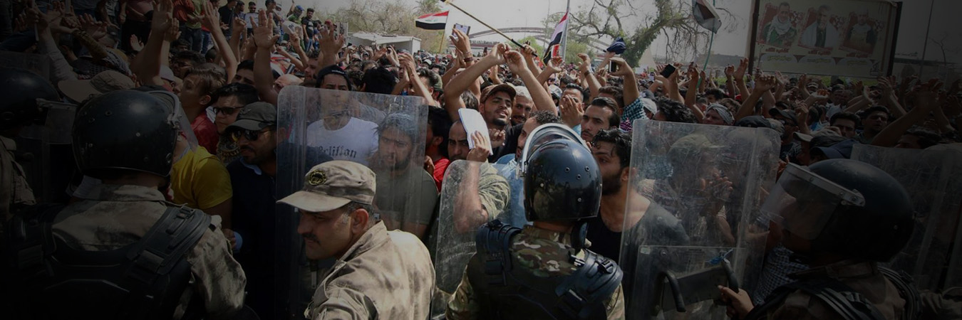The Iraqi government should stop repressive practices against protesters, meet their demands