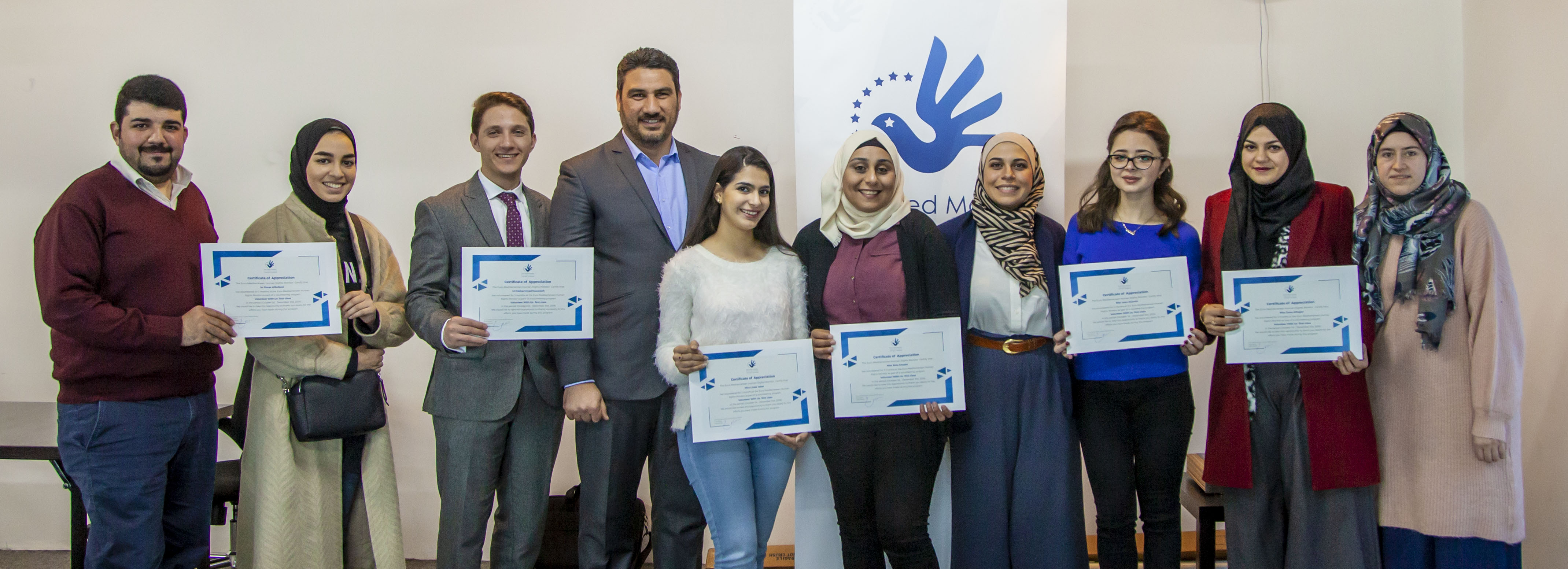 First batch of Euro-Med's Volunteer With Us project in Jordan graduate