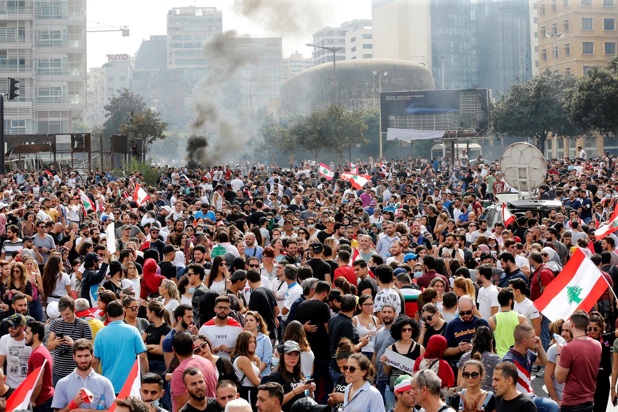 الأورومتوسطي يعبر عن قلقه من التحريض المتزايد ضد متظاهري لبنان