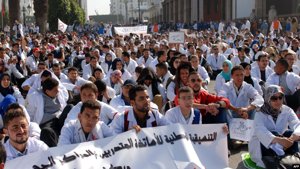 The Euro-Med calls on Moroccan authorities to respect protests of medical students
