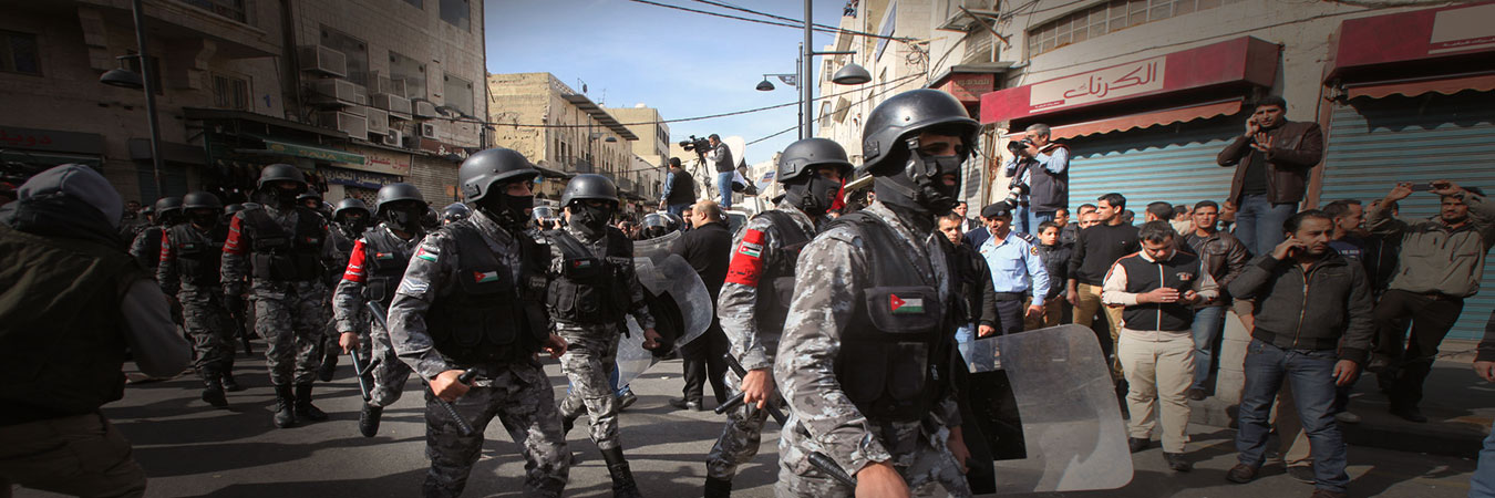 Jordanian security's suppression of hundreds of teachers violates freedom of expression