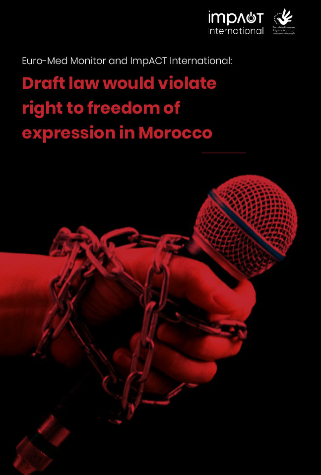 Joint report: Moroccan draft law would silence dissenting voices