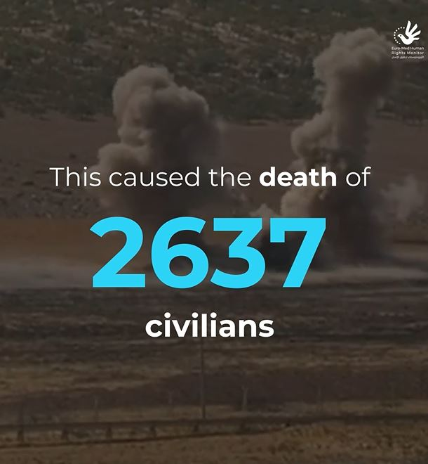 Incidents and victims of landmine explosions in Syria increased despite military operations eased