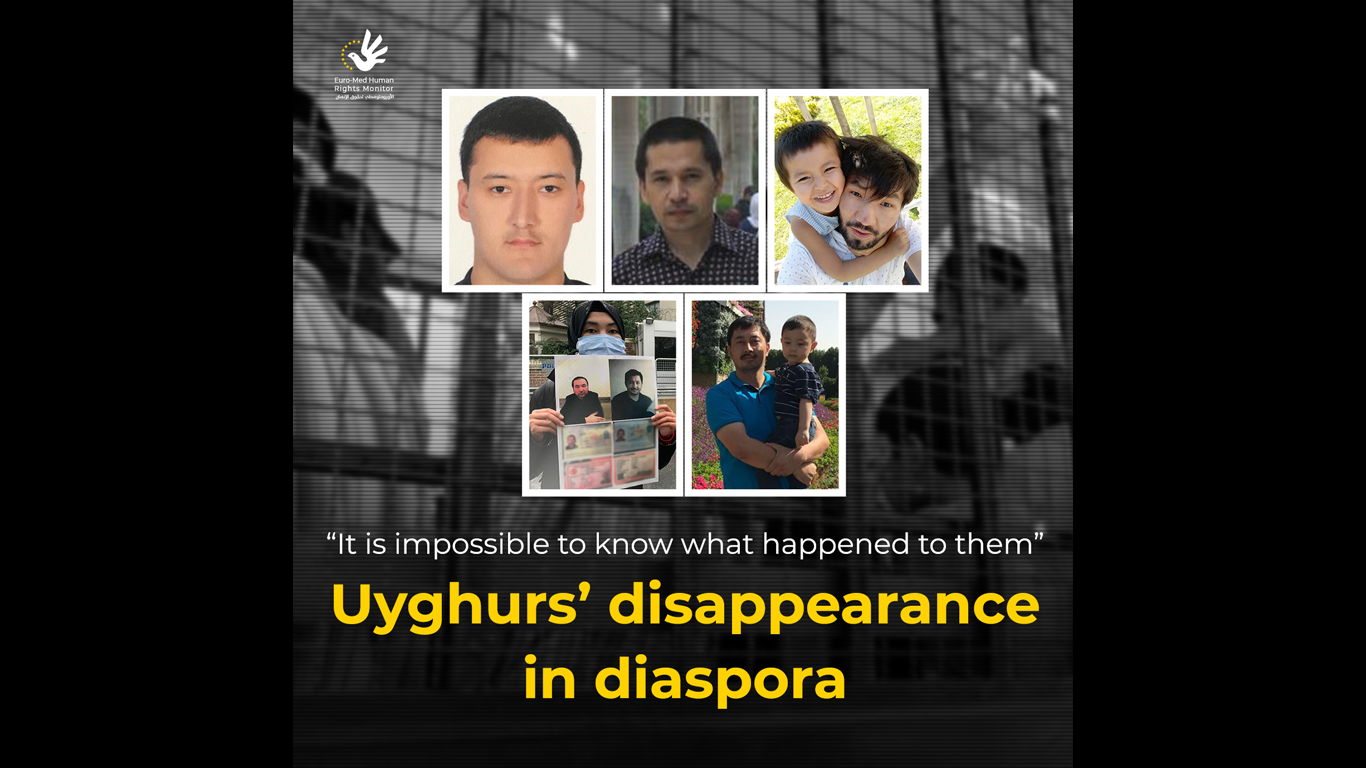 Uyghurs' disappearance in diaspora