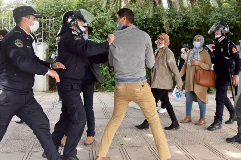 Morocco.. Dispraising contractual teachers' protest reveals unprecedented repression