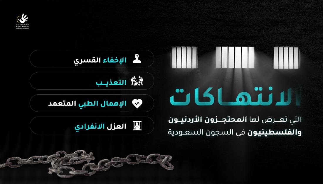 الانتهاكات التي تعرض لها المحتجزون الأردنيون والفلسطينيون في السجون السعودية