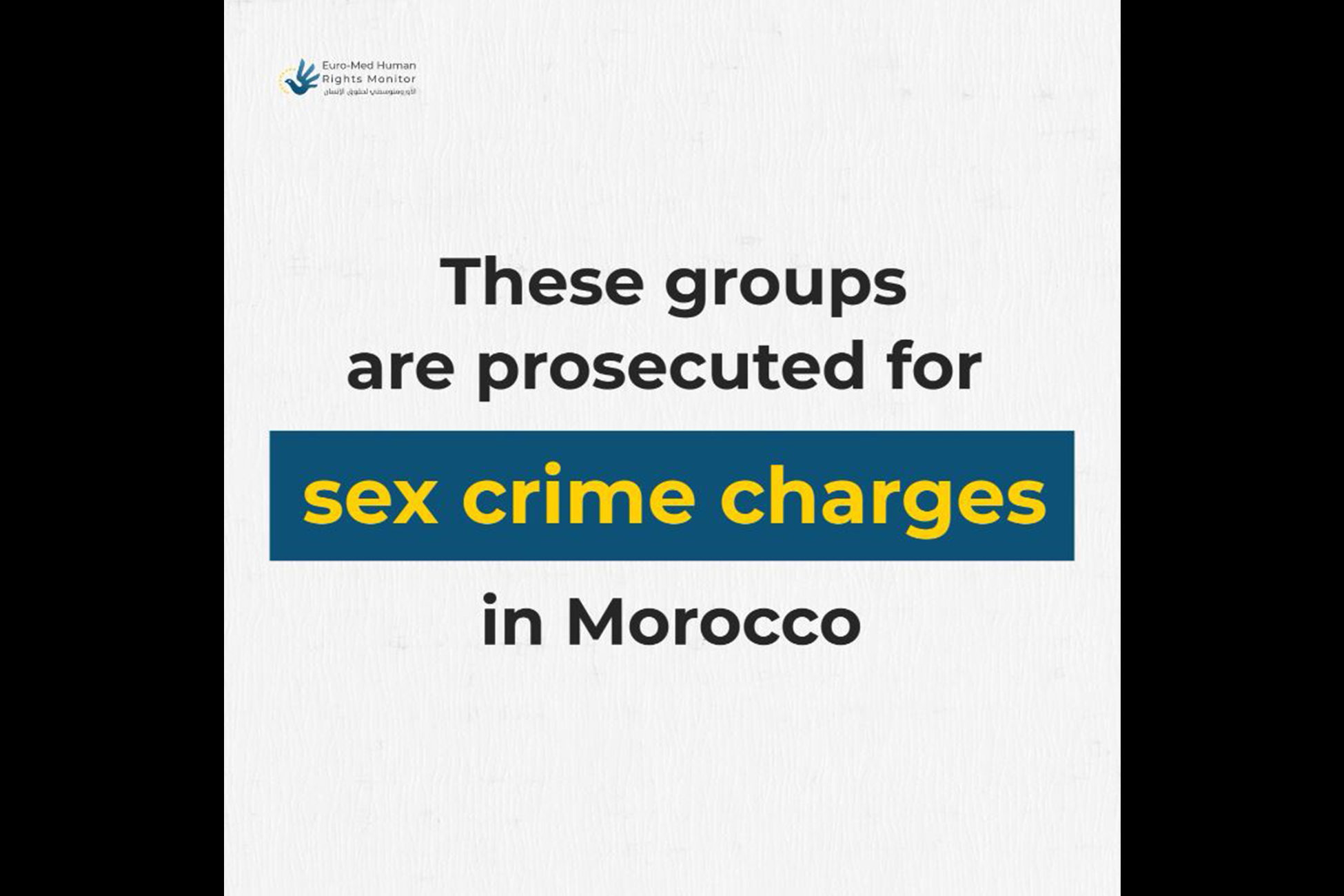 Sex crime charges in Morocco