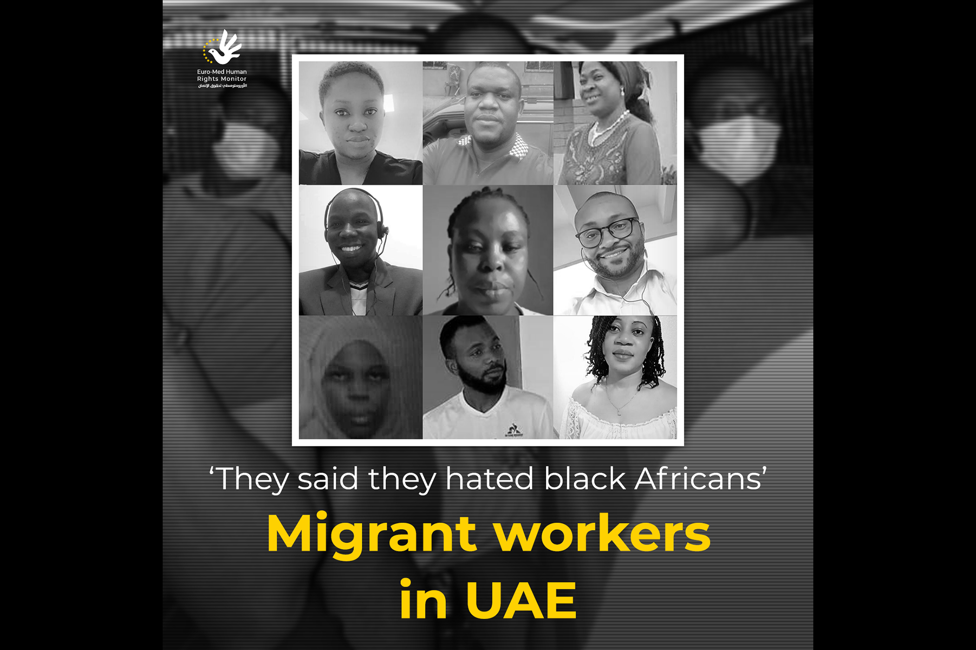 'They said they hated black Africans' Migrant workers in UAE