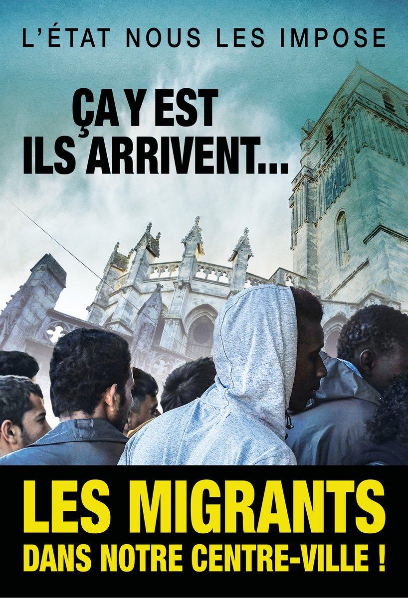 « Ils arrivent... » : un maire français déclenche un tollé avec une affiche sur les réfugiés